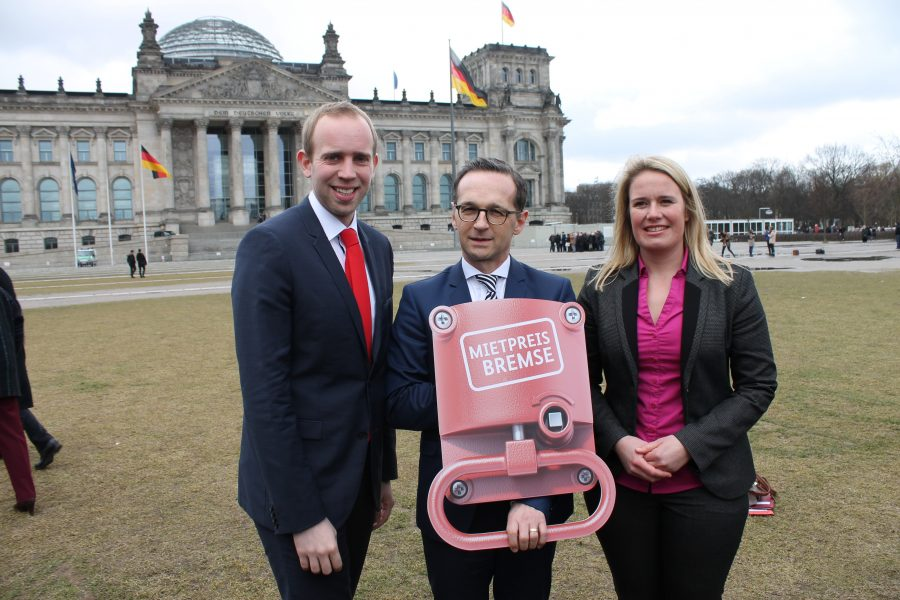 v.l.n.r.: Dennis Rohde,, MdB; Justizminister Heiko Maas; MdB a.D. Christina Jantz-Herrmann